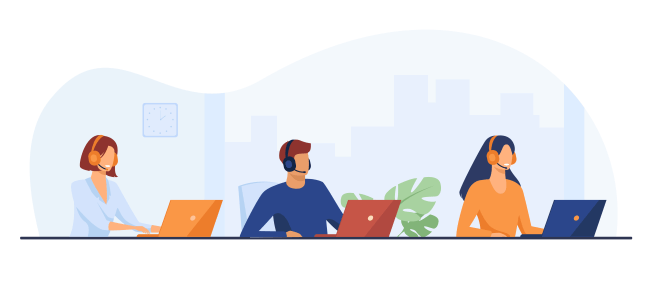 Customer support illustration