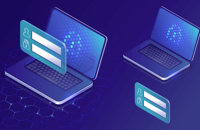Digital laptops and cards concept