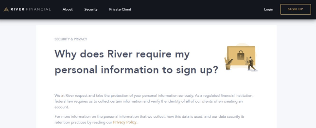 Screenshot of a river.com page section