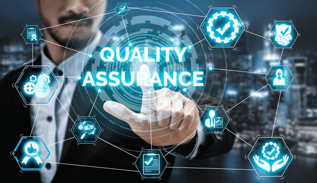 Quality assurance and quality control concept