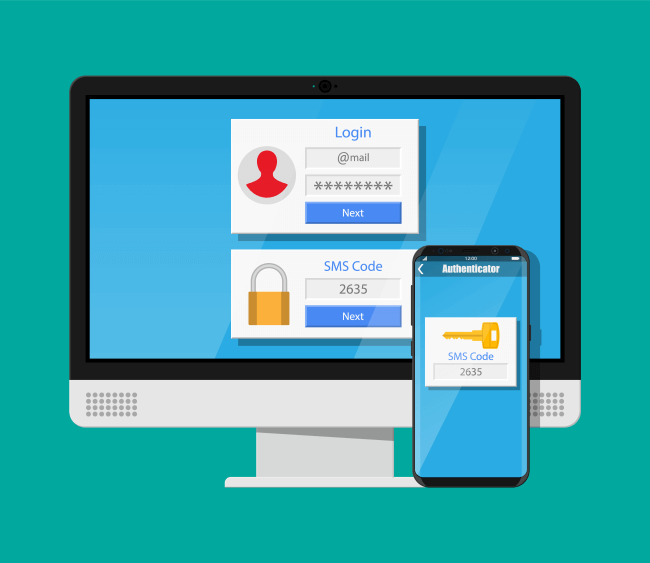 Two factor authentication concept