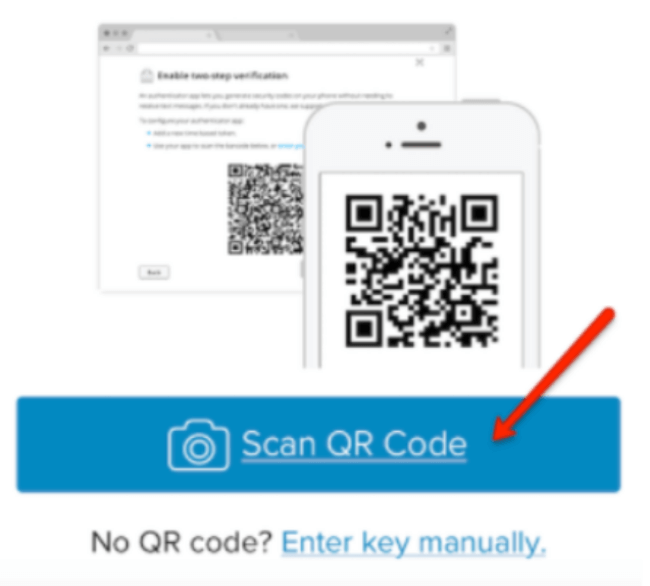 Scan QR code from Authy app