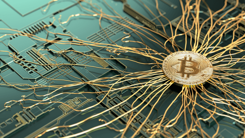 Bitcoin getting roots on circuit board