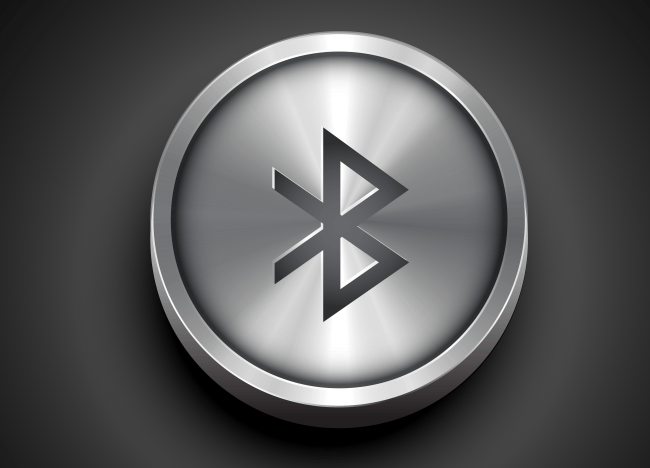 Metallic bluetooth icon
