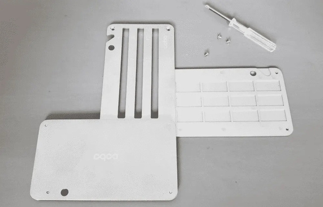 Cobo tablet setup with screwdriver