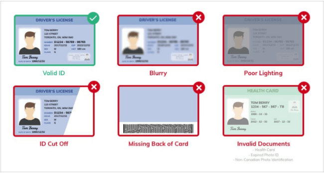 Screenshot of a Coinberry id verification