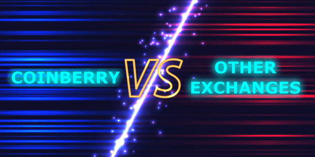 Coinberry versus other exchanges