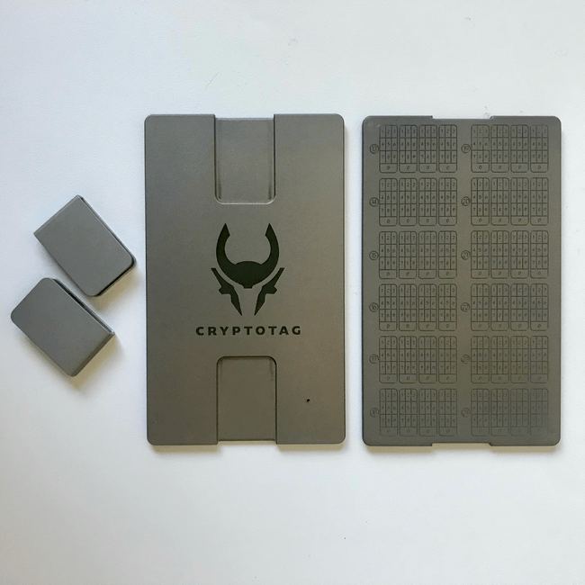 Cryptotag plates and clips