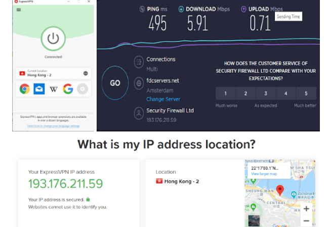 Express VPN using Hong Kong server