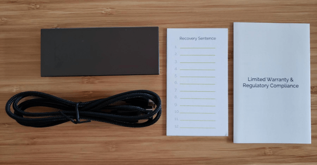 Keepkey box containance