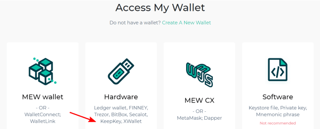 Screenshot of myetherwallet.com
