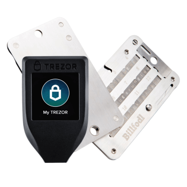 Trezor Model T and Billfodl