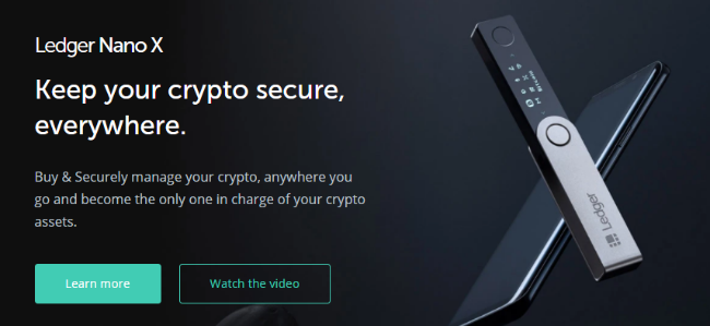 Screenshot of ledger.com