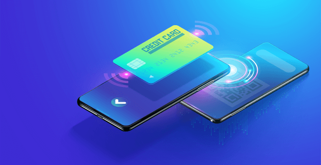 Credit card linked with mobile