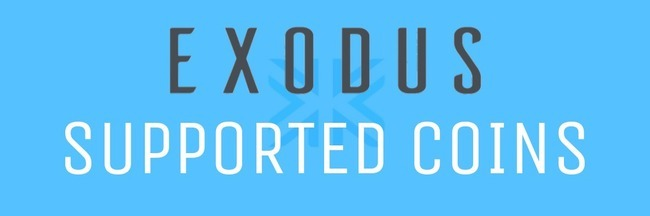exodus supported coins
