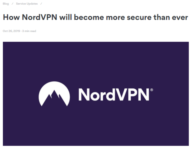 Screenshot of a nordvpn.com blog article