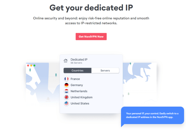 Screenshot of a nordvpn.com features