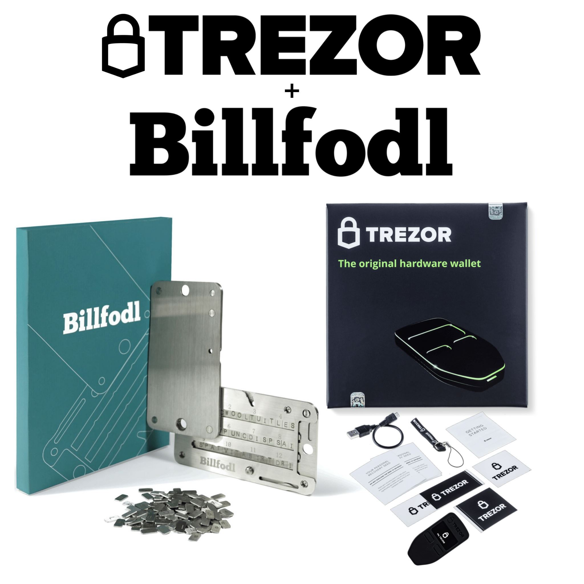 Trezor One and Billfodl Box Contents
