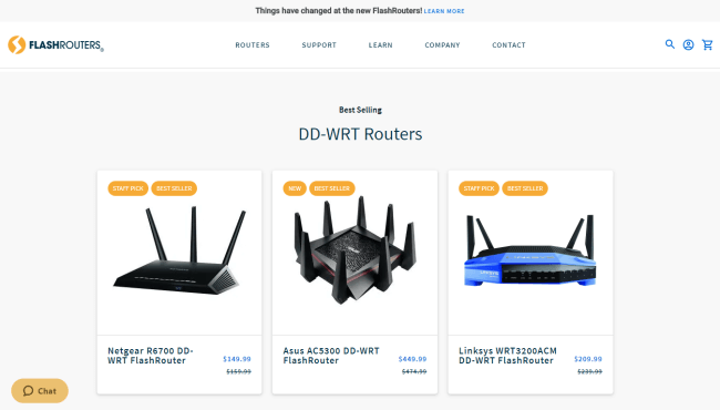 DD-WRT Flash Routers