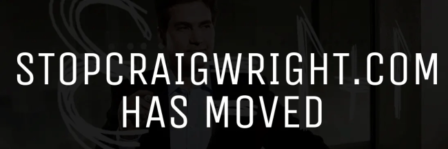 stopcraigwright.com has moved
