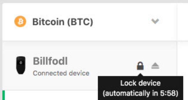 Trezor One Power Unlock
