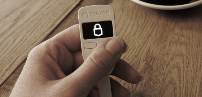 Screenshot of trezor.io