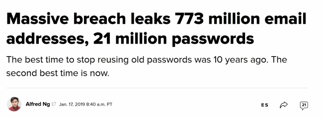 email and password leaks